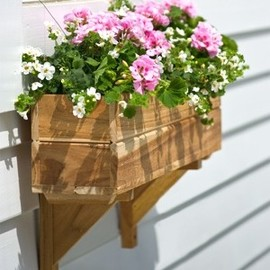 "8"" Teak Window Planter Box"