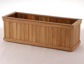 Rectangular Teak Planter Box
