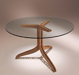 Spirit Song Circular Dining Glass Top Table