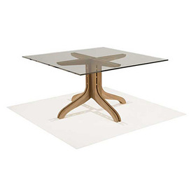 Spirit Song Square Dining Glass Top Table